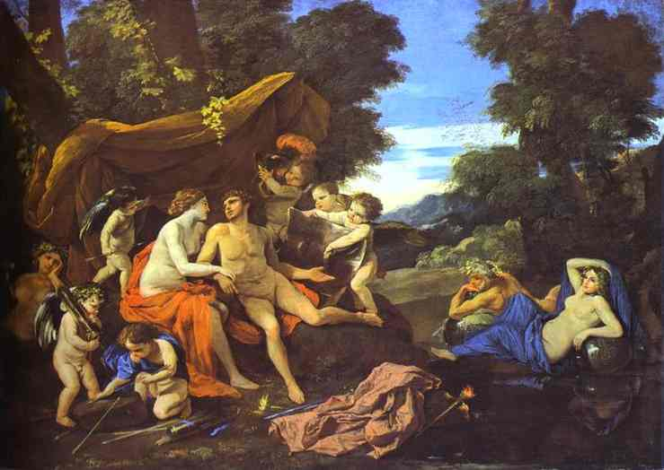 Mars And Venus 1626-1628 | Nicolas Poussin | Oil Painting