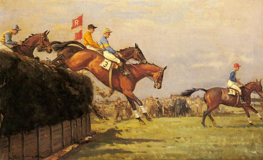 The Grand National Steeplechase | John Sanderson Wells | Oil Painting