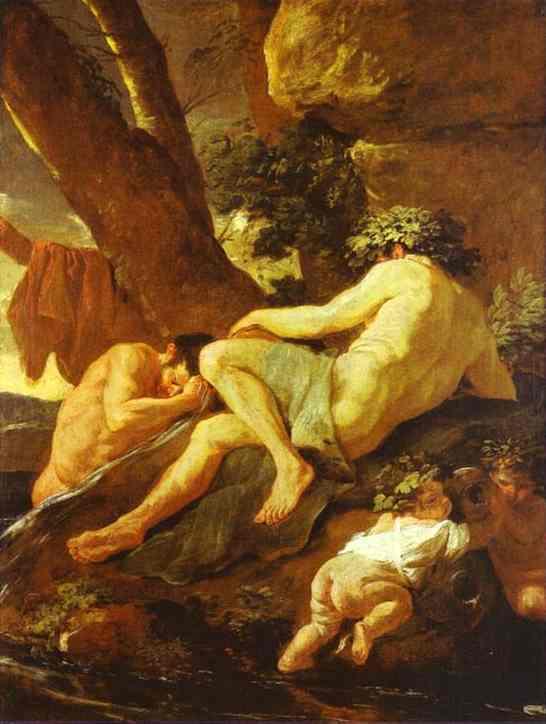 Midas Bathing In Pactolus 1627   Nicolas Poussin   Oil Painting