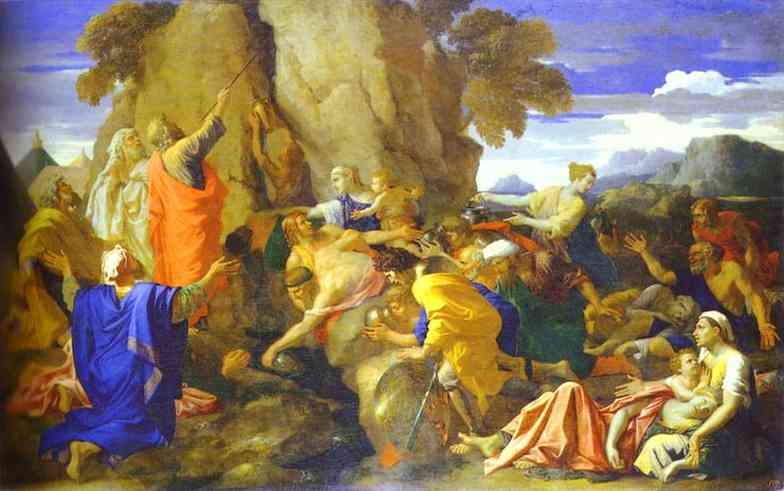 Moses Striking The Rock For Water 1649 | Nicolas Poussin | Oil Painting