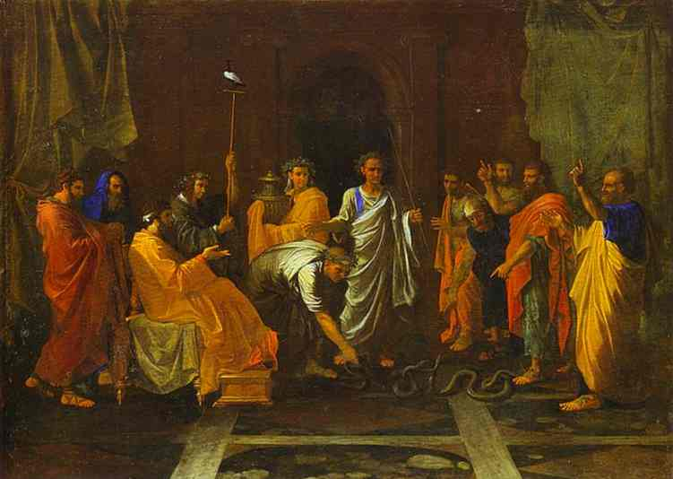 Moses Turning The Aarons Staff Into A Serpent 1647 | Nicolas Poussin | Oil Painting