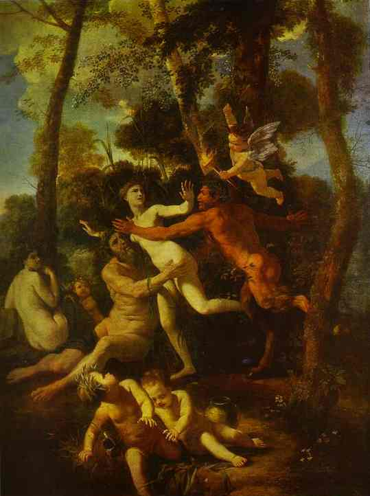 Nymph Syrinx Pursued By Pan | Nicolas Poussin | Oil Painting