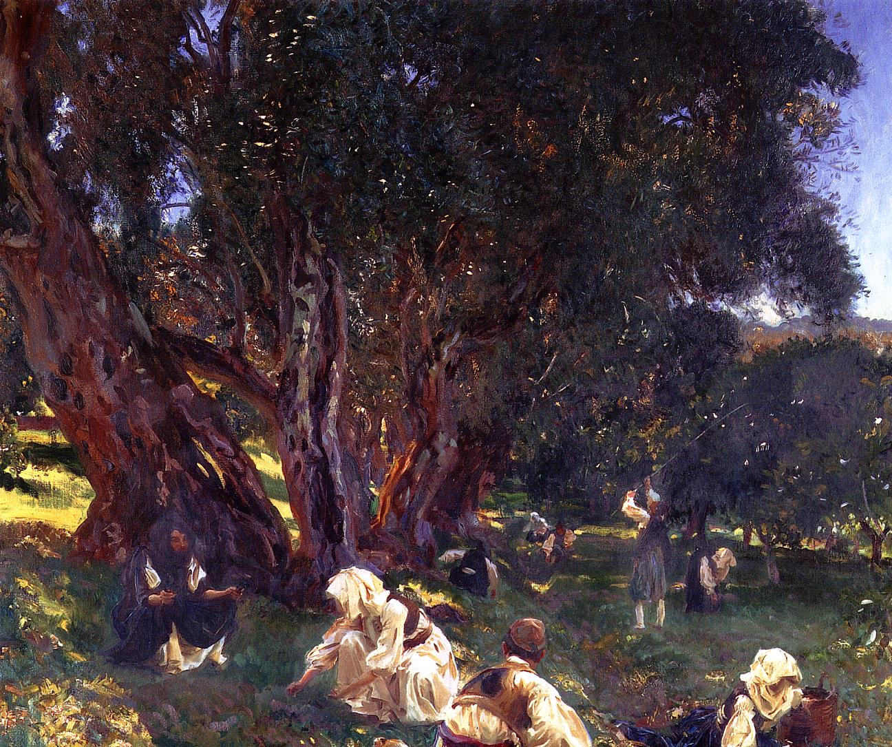Albanian Olive Gatherers 1909 | John Singer Sargent | Oil Painting