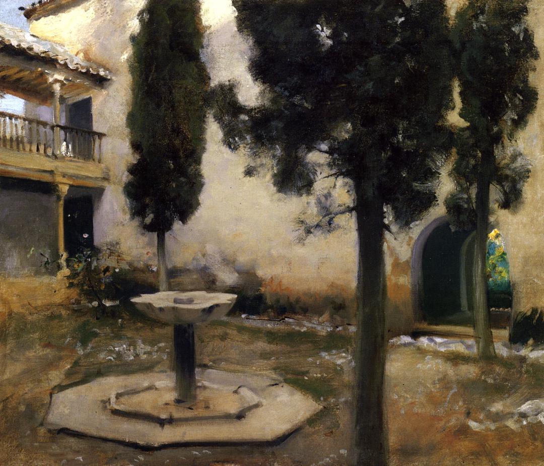 Alhambra Patio de la Reja 1879 | John Singer Sargent | Oil Painting