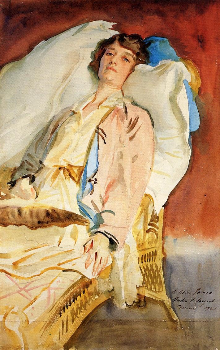 Alice Runnels James (aka Mrs William James) 1921 | John Singer Sargent | Oil Painting