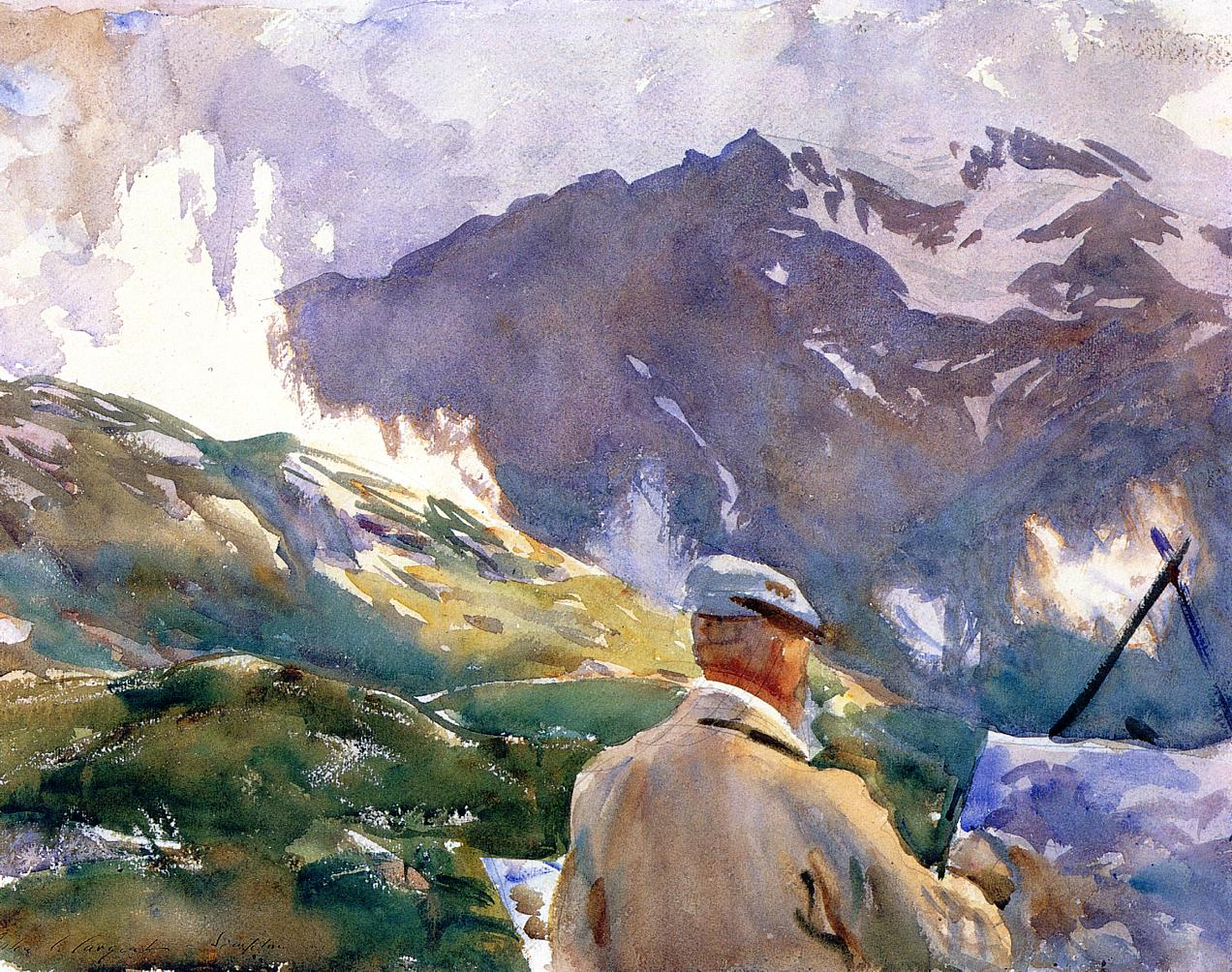 Artist in the Simplon 1909 | John Singer Sargent | Oil Painting
