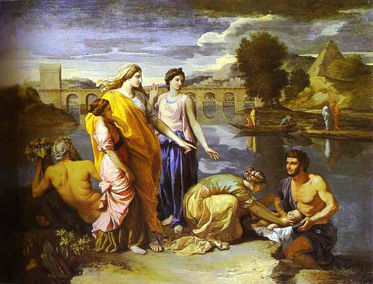 Pharaohs Daughter Finds Baby Moses 1638 | Nicolas Poussin | Oil Painting