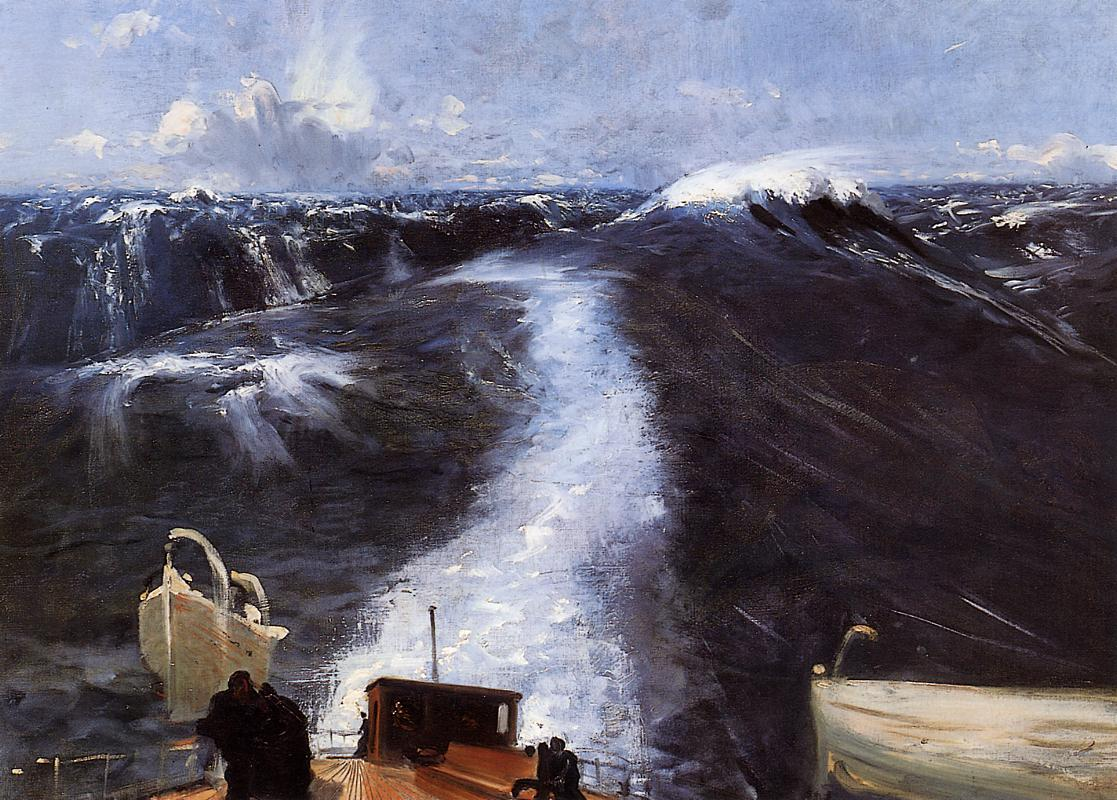 Atlantic Storm 1876 | John Singer Sargent | Oil Painting