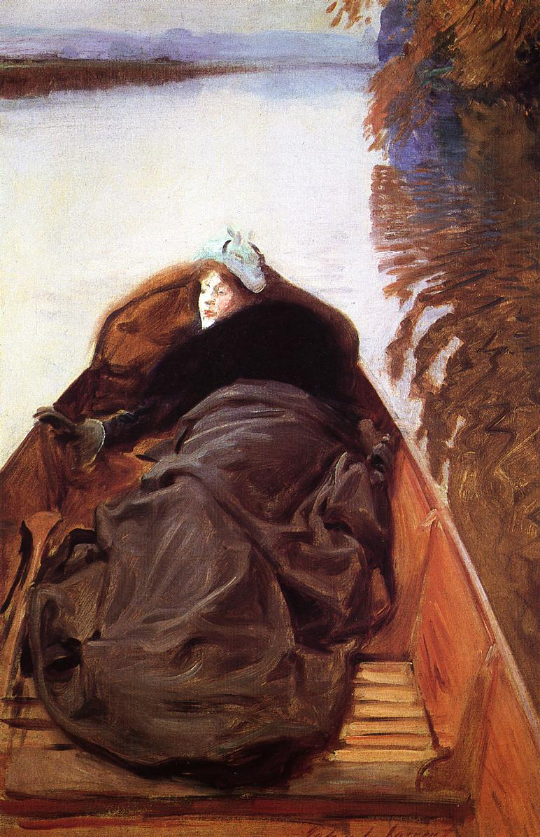 Autumn on the River (aka Miss Violet Sargent) 1889 | John Singer Sargent | Oil Painting