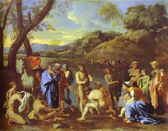 St John Baptizing 1634-1635 | Nicolas Poussin | Oil Painting