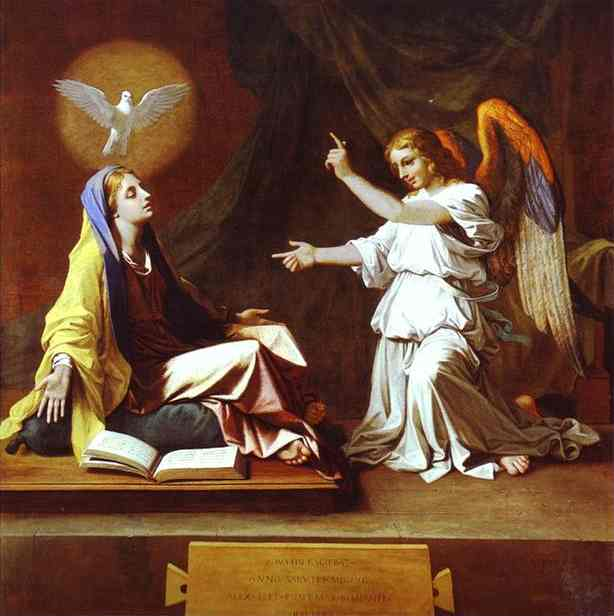 The Annunciation 1655 | Nicolas Poussin | Oil Painting