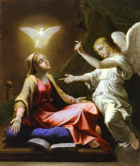 The Annunciation 1657 | Nicolas Poussin | Oil Painting
