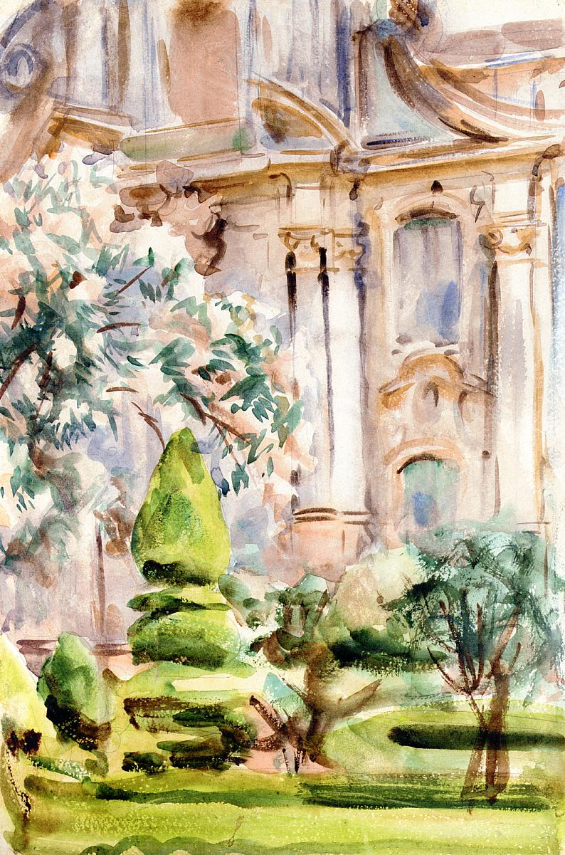 A Palace and Gardens Spain | John Singer Sargent | Oil Painting