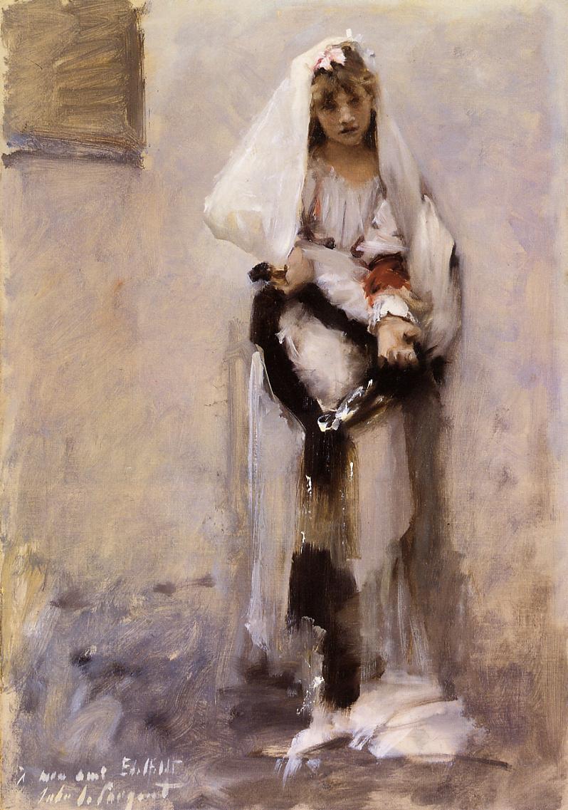 A Parisian Beggar Girl 1880 | John Singer Sargent | Oil Painting