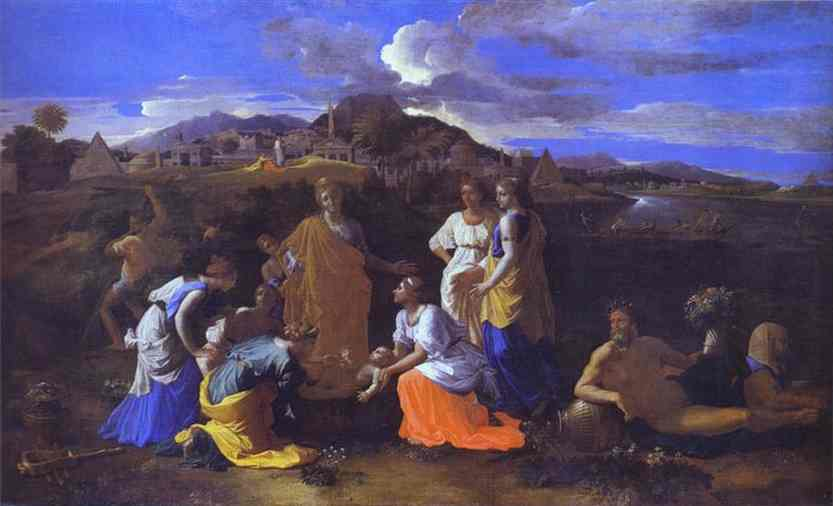 The Baby Moses Saved From The River 1647 | Nicolas Poussin | Oil Painting