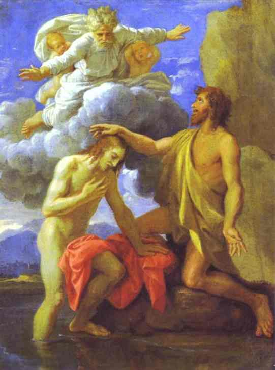 The Baptism Of Christ 1645 | Nicolas Poussin | Oil Painting