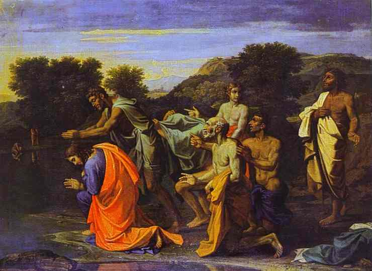 The Baptism Of Christ 1650s | Nicolas Poussin | Oil Painting