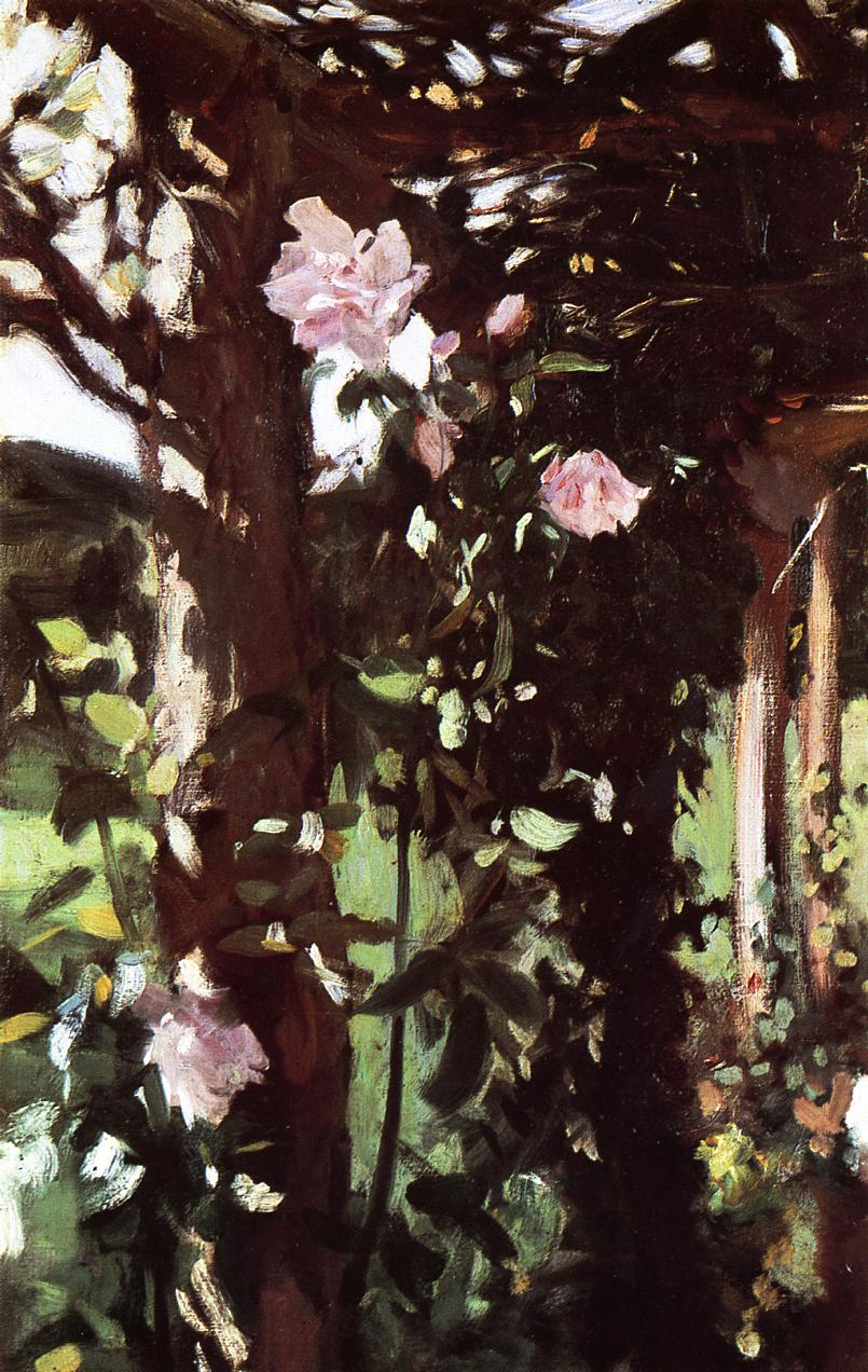 A Rose Trellis (aka Roses at Oxfordshire) 1886 | John Singer Sargent | Oil Painting
