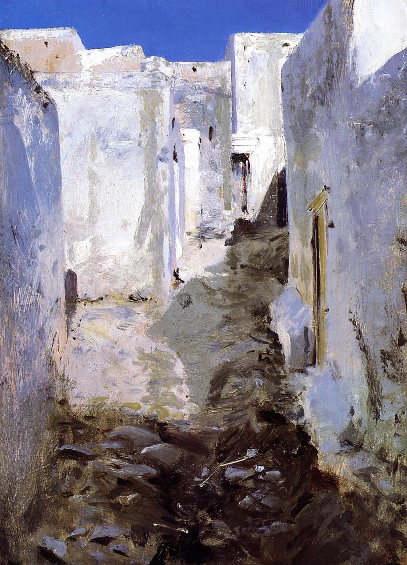 A Street in Algiers 1879-1880 | John Singer Sargent | Oil Painting