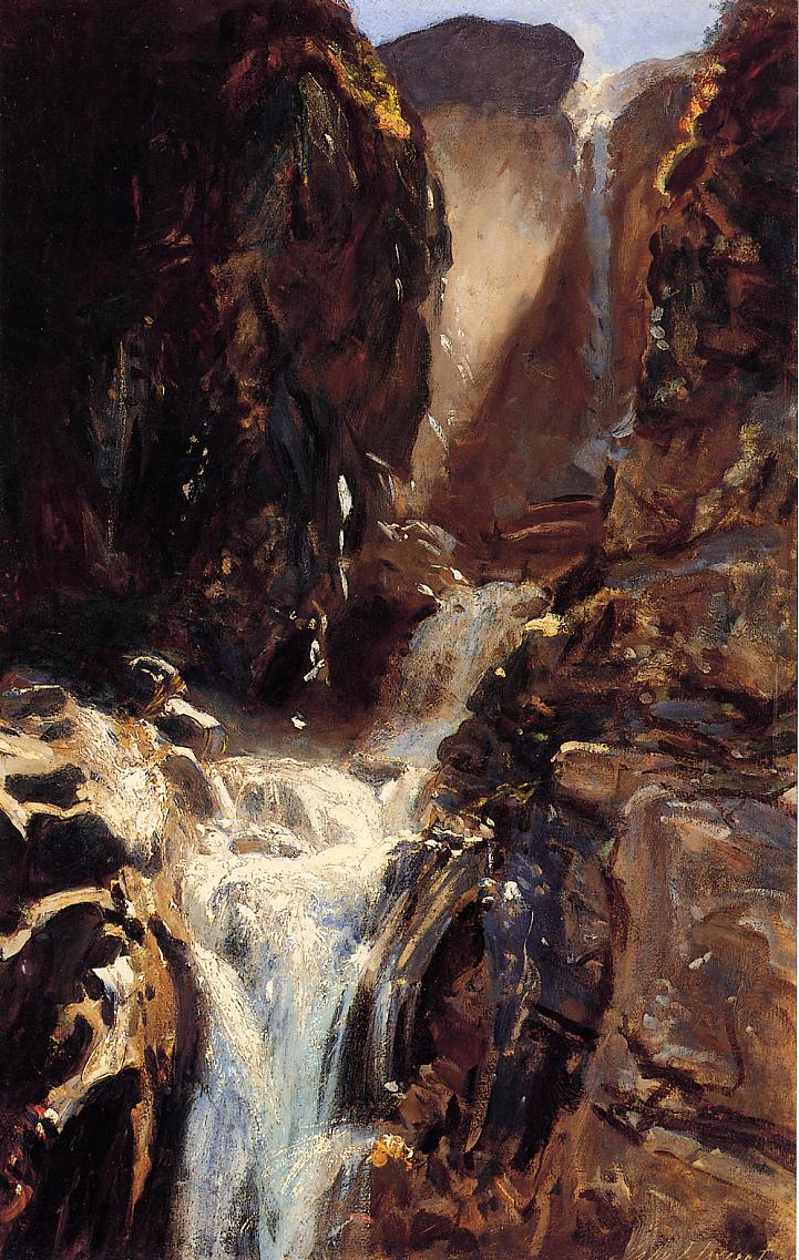 A Waterfall 1910 | John Singer Sargent | Oil Painting