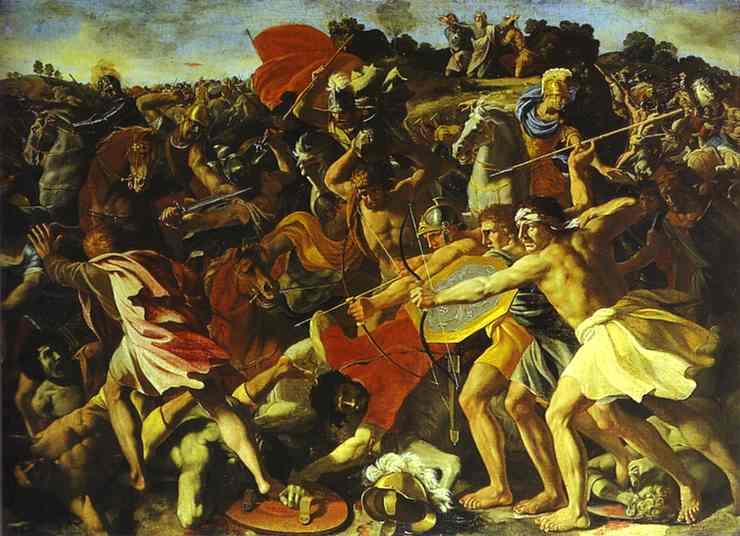 The Battle Of Joshua With Amalekites 2 1625 | Nicolas Poussin | Oil Painting