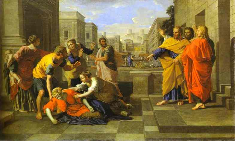 The Death Of Sapphira 1652 | Nicolas Poussin | Oil Painting