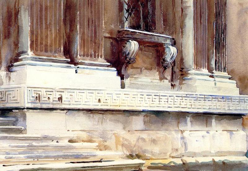 Base of a Palace 1904 | John Singer Sargent | Oil Painting