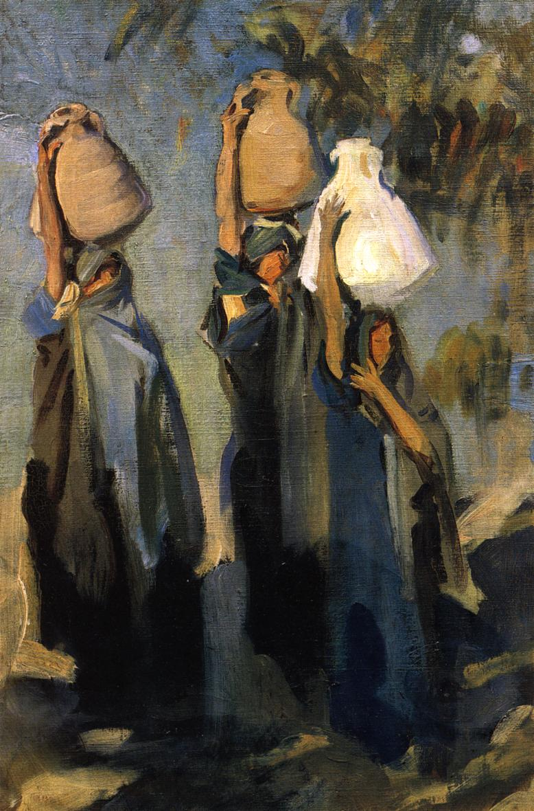 Bedouin Women Carrying Water Jars 1891 | John Singer Sargent | Oil Painting