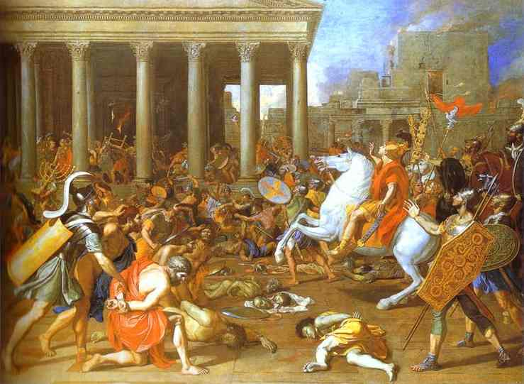 The Destruction Of The Temple In Jerusalem 1640s | Nicolas Poussin | Oil Painting