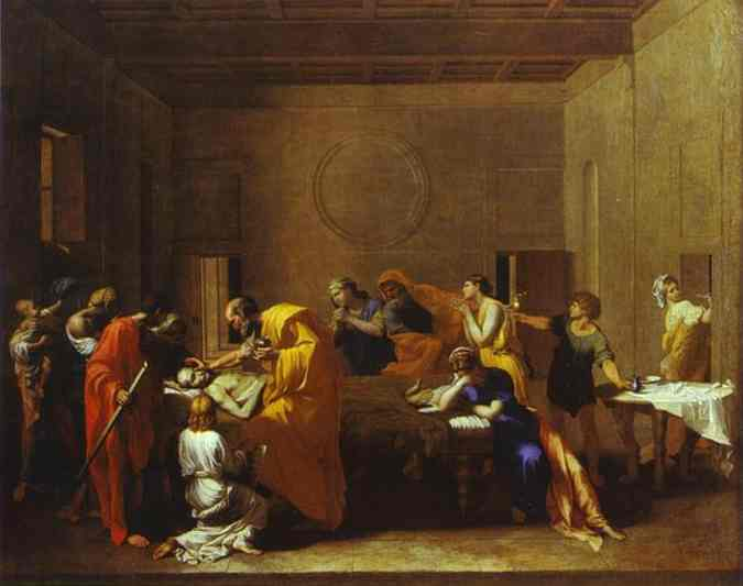The Extreme Unction 1640s | Nicolas Poussin | Oil Painting