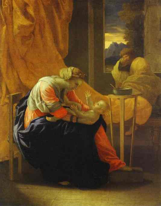 The Holy Family 1641 | Nicolas Poussin | Oil Painting