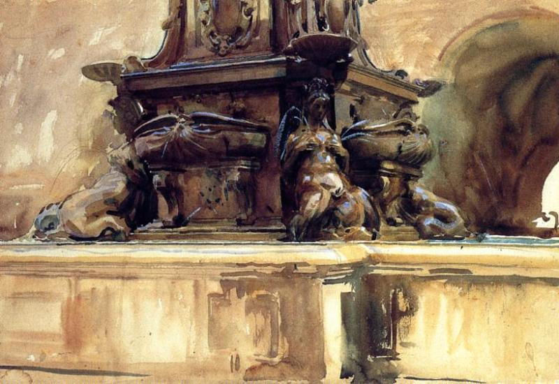 Bologna Fountain 1906 | John Singer Sargent | Oil Painting