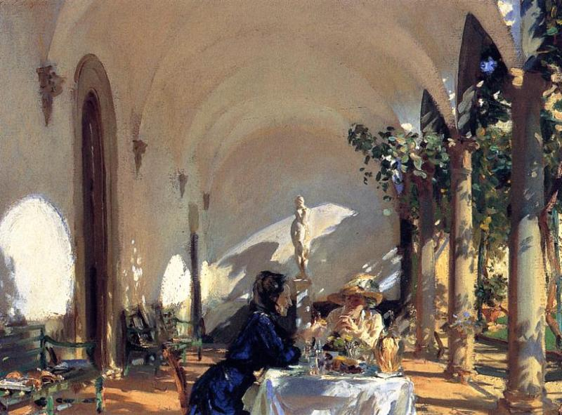 Breakfast in the Loggia 1910 | John Singer Sargent | Oil Painting