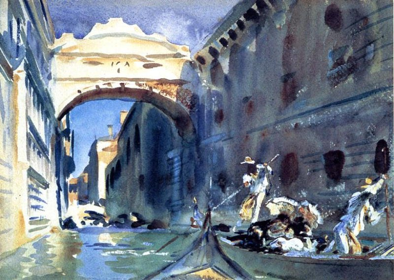 Bridge of Sighs 1904 | John Singer Sargent | Oil Painting