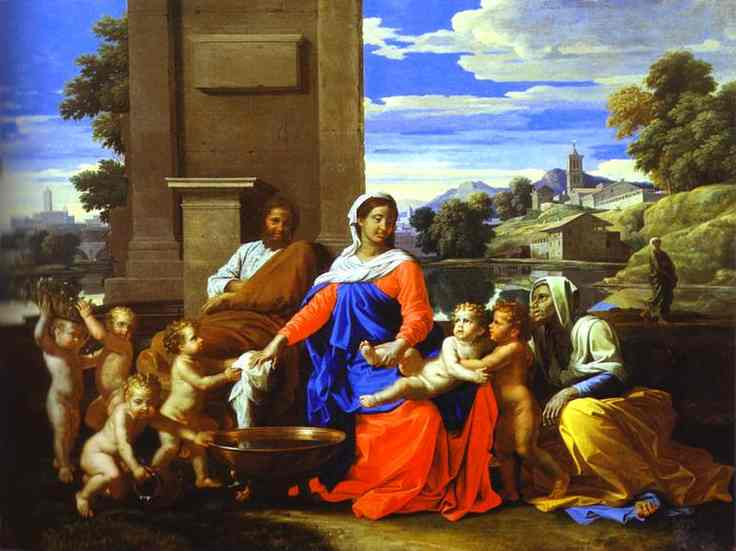The Holy Family 1650 | Nicolas Poussin | Oil Painting