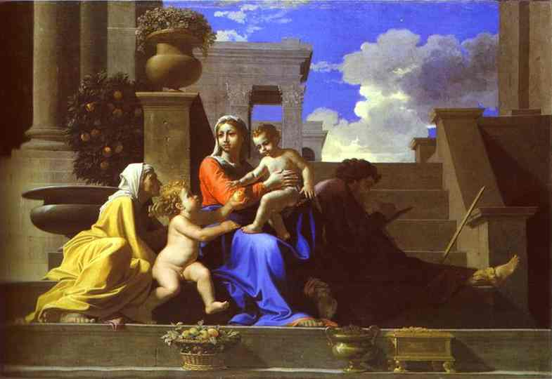 The Holy Family On Steps 1648 | Nicolas Poussin | Oil Painting