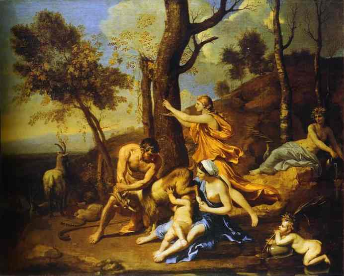 The Infant Jupiter Nurtured By The Goat Amalthea 1638 | Nicolas Poussin | Oil Painting