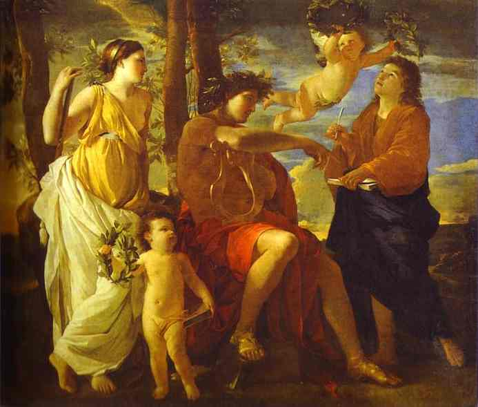 The Inspiration Of The Poet 1628 | Nicolas Poussin | Oil Painting