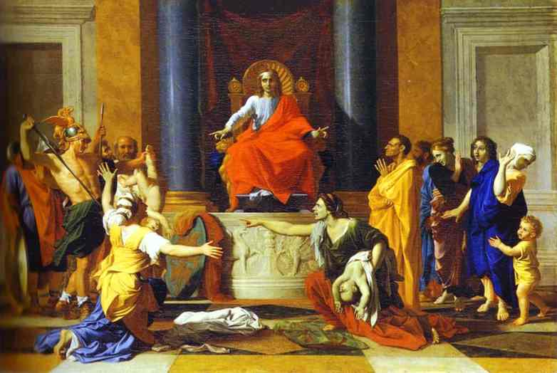 The Judgment Of Solomon 1649 | Nicolas Poussin | Oil Painting