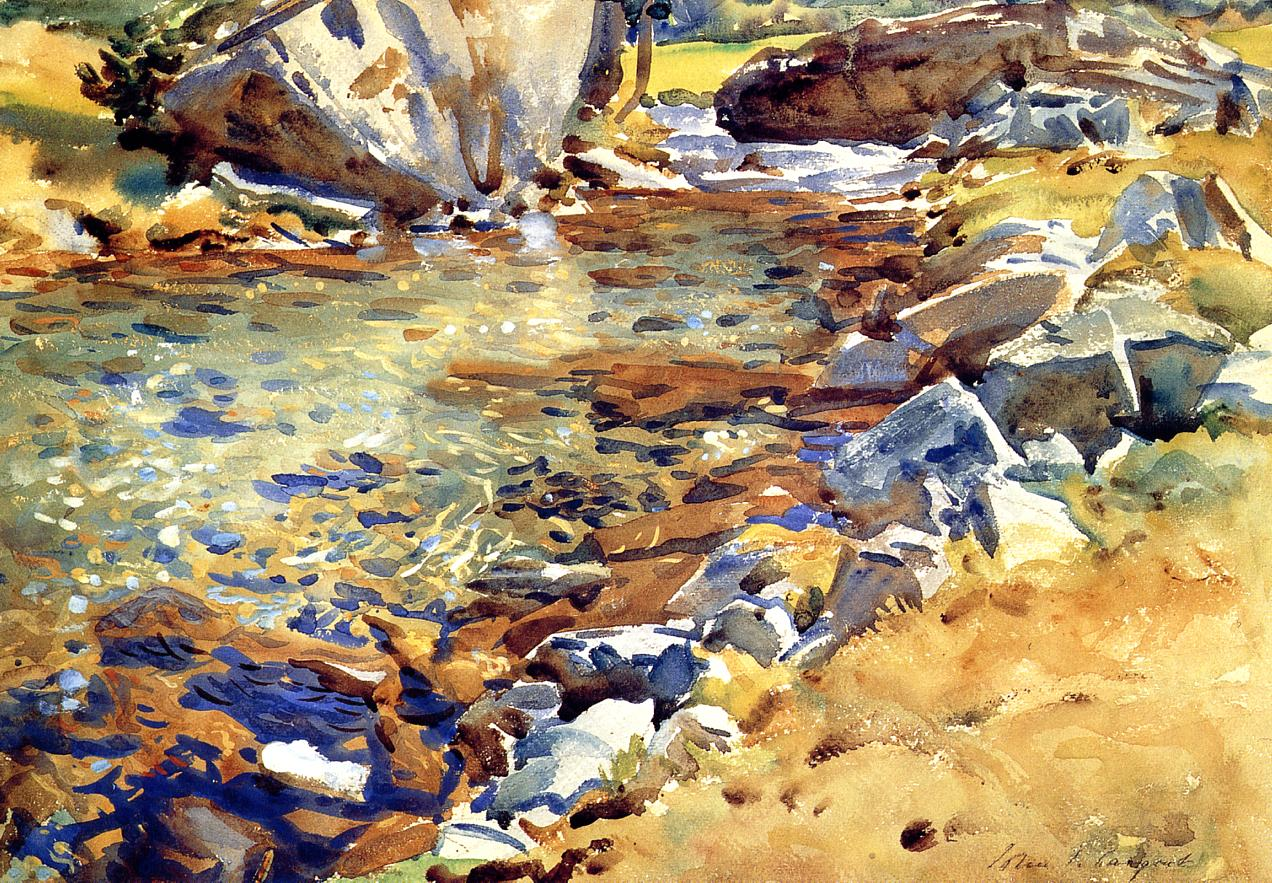 Brook among the Rocks 1907 | John Singer Sargent | Oil Painting