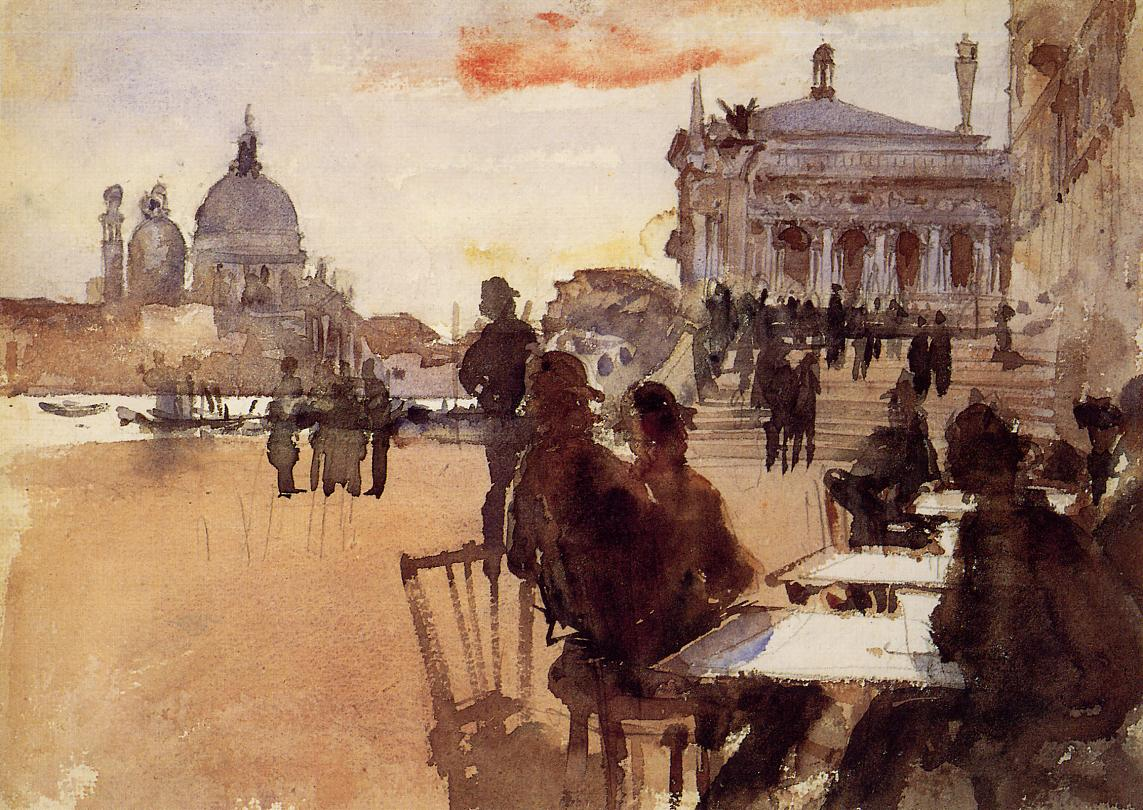 Cafe on the Riva degli Schiavoni 1880-1882 | John Singer Sargent | Oil Painting