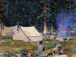 Camping at Lake OHara 1916 | John Singer Sargent | Oil Painting