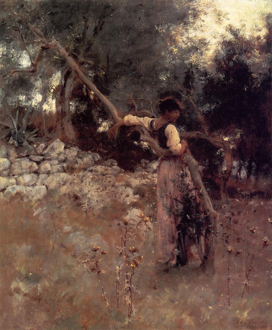 Capri Girl (aka Among the Olive Trees Capri) 1878 | John Singer Sargent | Oil Painting