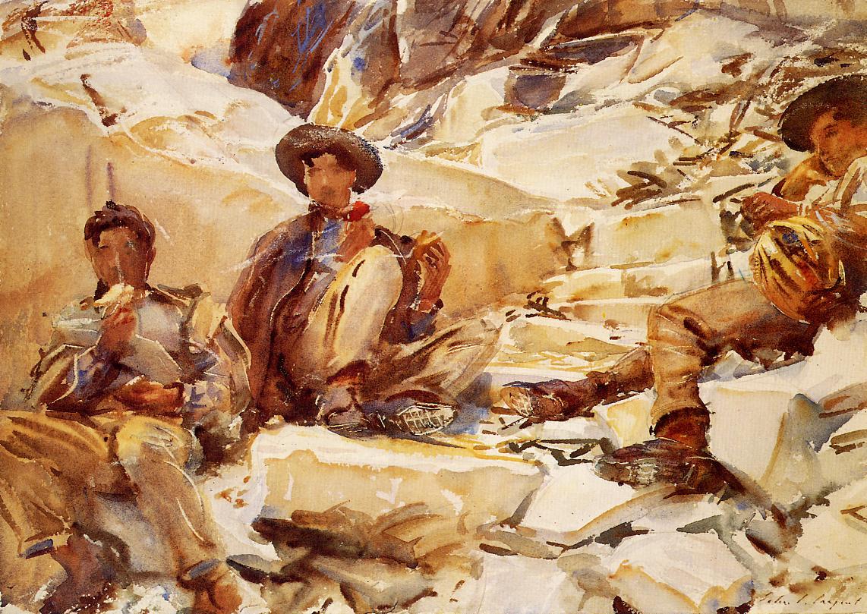 Carrara Workmen 1911 | John Singer Sargent | Oil Painting