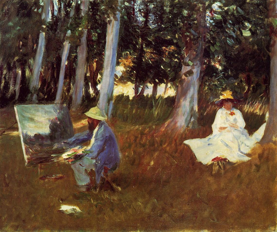 Claude Monet Painting by the Edge of the Woods 1885 | John Singer Sargent | Oil Painting