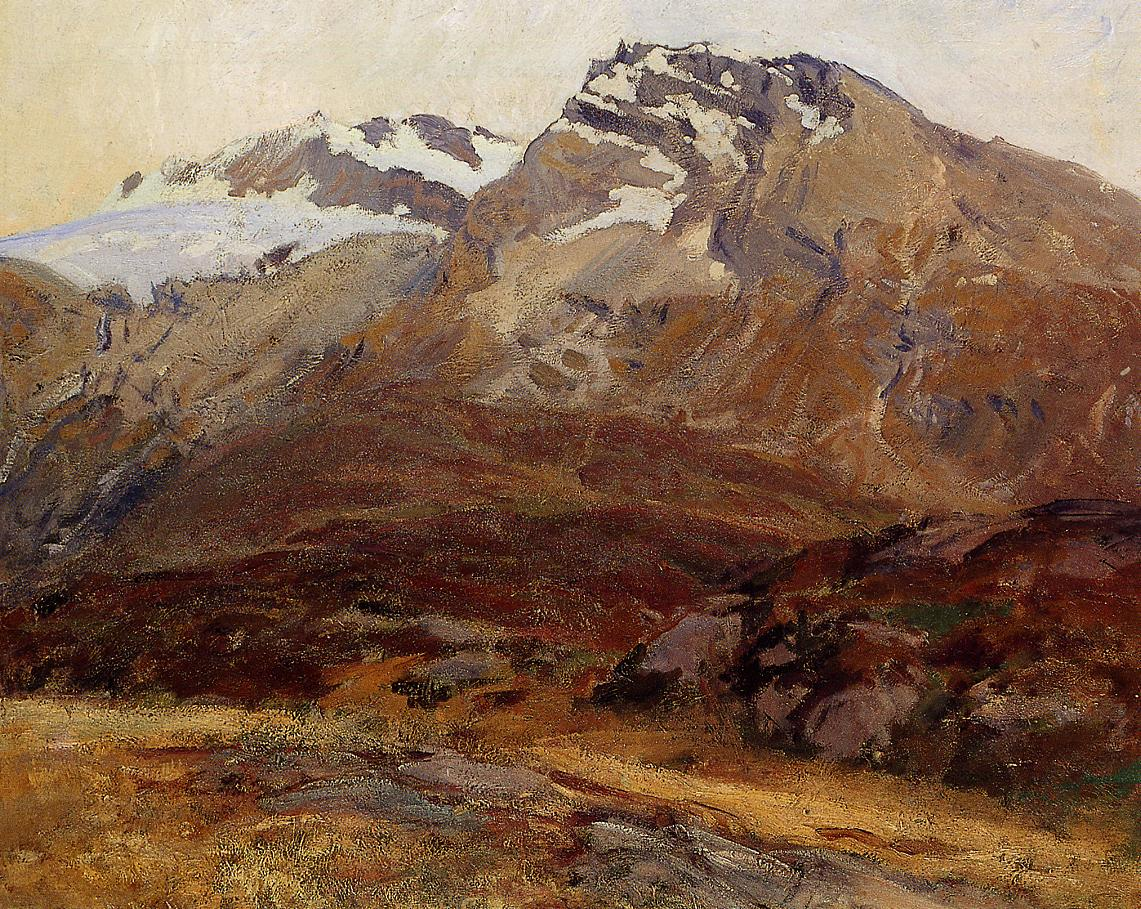 Coming Down from Mont Blanc (aka Hubshorn Mountain Simplon Pass) 1909-1911 | John Singer Sargent | Oil Painting