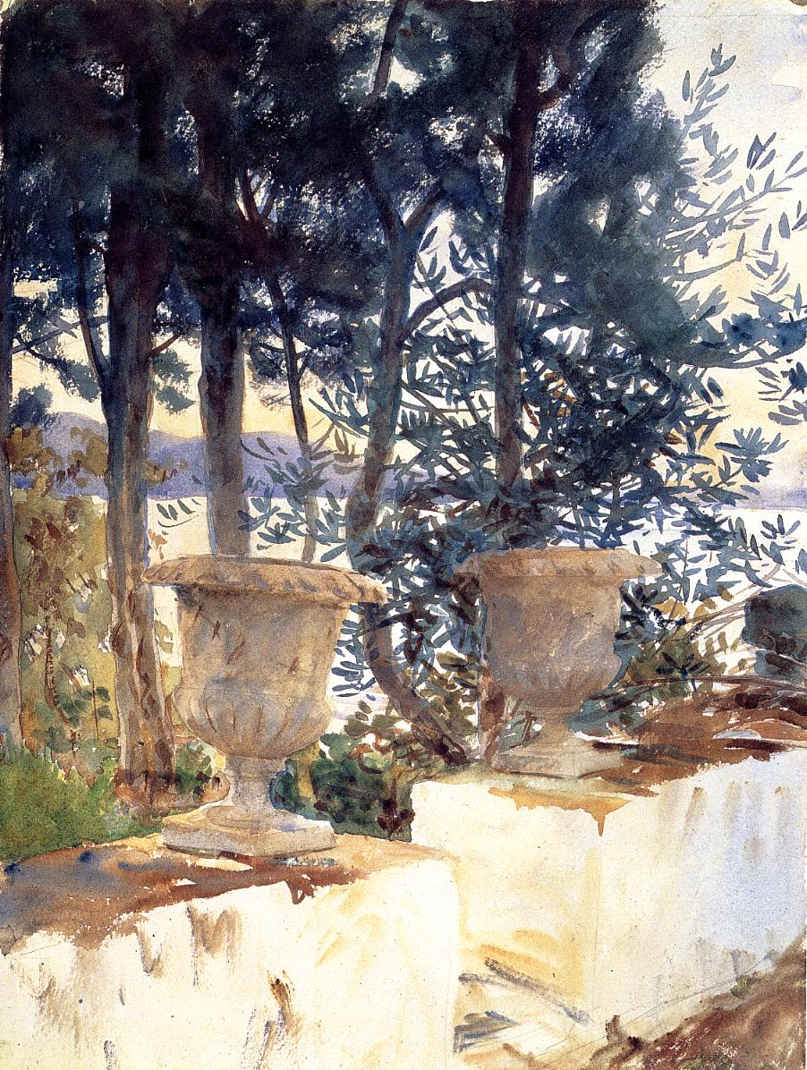 Corfu The Terrace 1909 | John Singer Sargent | Oil Painting