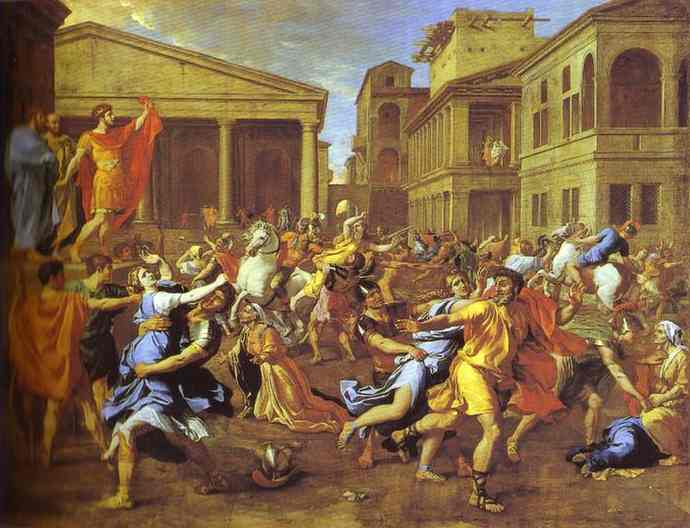 The Rape Of The Sabines 1640s | Nicolas Poussin | Oil Painting