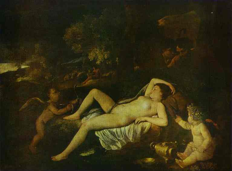 The Sleeping Venus And Cupid 1630 | Nicolas Poussin | Oil Painting