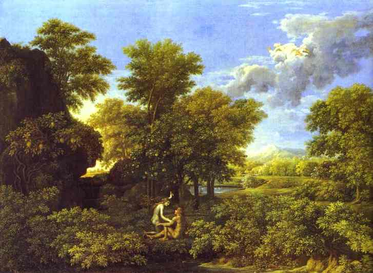 The Spring Adam And Eve In Paradise 1660-1664 | Nicolas Poussin | Oil Painting